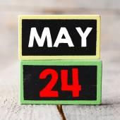May 24 on blackboards — Foto Stock