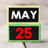 May 25 on blackboards — Stock Photo