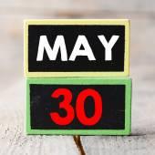 May 30 on blackboards — Stock Photo