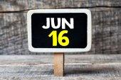 June 16   on blackboard — Stock Photo