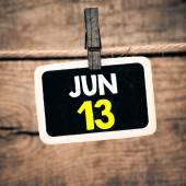 June 13 on blackboard — Stockfoto