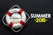 Koło ratunkowe z letnich 2015 — Zdjęcie stockowe
