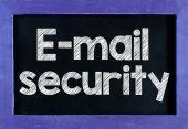 E-mail security On blackboard — Stock Photo