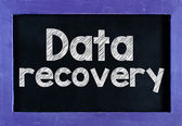 Data recovery på blackboard — Stockfoto