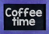 Coffee Time On blackboard — Stock Photo