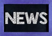 News word On blackboard — Stock Photo