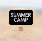 Summer camp  on chalkboard — Stock Photo