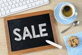 Sale on Blackboard with chalk — Foto Stock