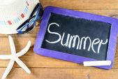 Blackboard frame with summer — Stock Photo