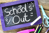 Blackboard frame with school's out — Stock Photo