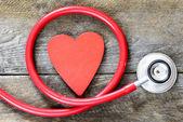 Stethoscope with heart symbol — Stock Photo