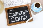 Blackboard with summer camp — Stock Photo