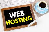 Tablica z web hosting — Zdjęcie stockowe