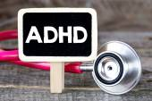 Blackboard with ADHD and stethoscope — Stock Photo