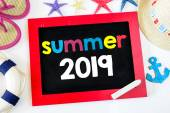 Blackboard with summer  2019 — Stock Photo
