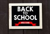 Retour à l'école sur tableau noir — Photo