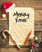 Letter for santa  with Santa  hat — Stock Photo