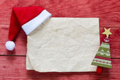 Merry christmas red background — Stock Photo