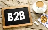 B2B on Blackboard with chalk — Stock Photo