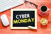 Cyber Monday auf Blackboard — Stockfoto