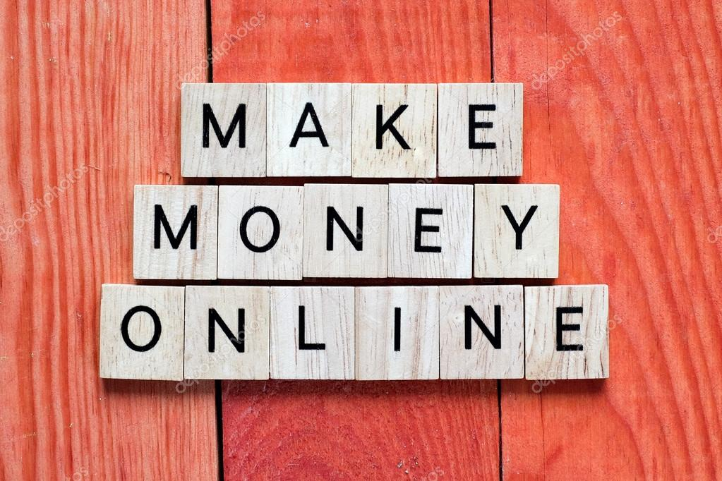 Wooden letters Make money online — Stock Photo © roobcio #94195018