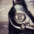 Retro car, headlight close-up. Photo of old style — Stock Photo #70027037