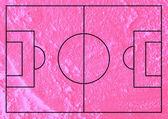 Soccer field or Football textured grass field on wall texture ba — Stock Photo