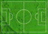 Soccer field or Football textured grass field on wall texture ba — Stock Photo