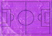 Campo di calcio o campo di calcio con texture erba su ba trama parete — Foto Stock