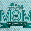 Happy mothers day Greeting card design for your mom on wall text — Stock Photo #53275099