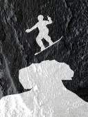 Skateboarders silhouettes  on Cement wall texture background des — Foto de Stock