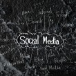 Social Media idea on wall texture background design — Stock Photo #53431309