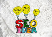 Seo Idea SEO Search Engine Optimization on Cement wall texture b — Foto Stock