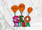 Seo Idea SEO Search Engine Optimization on Cement wall texture b — Stock Photo