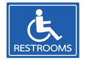 Restrooms for Wheelchair Handicap Icon design — Stock Vector