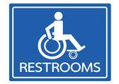 Restrooms for Wheelchair Handicap Icon design — Stock Vector