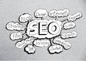 SEO ottimizzazione dei motori di ricerca seo idea — Vettoriale Stock