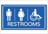 Restroom Symbol Male  Female and Wheelchair Handicap Icon — Stock Vector