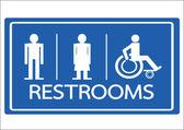 トイレ シンボル男性女性と車椅子のハンディキャップのアイコン — ストックベクタ