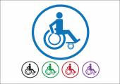 Wheelchair Handicap Icon design — Stock Vector