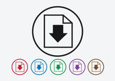 Download icon and Upload symbol button — Stock Vector