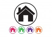 Home icon and Real estate concept — Stock Vector