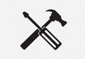 Tools and Hammer  icon — Stock Vector