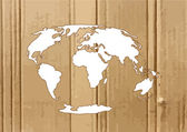 World map and  globe Illustration — Stock Vector