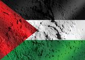 Flag of Palestine Gaza Strip flag themes idea design on wall tex — Stock Photo
