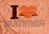 Summer idea design card on Cement wall  Background texture — Stockfoto