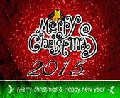 Feliz Navidad y feliz año nuevo tarjeta en pared de cemento Backgrou — Foto de Stock