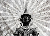 Thai giant art on Cement wall Background texture — Stock Photo