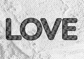 LOVE  Font Type for Valentines day card on Cement wall Backgroun — Stock Photo