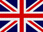 National flag of UK , the United Kingdom of Great Britain and No — Stock Photo